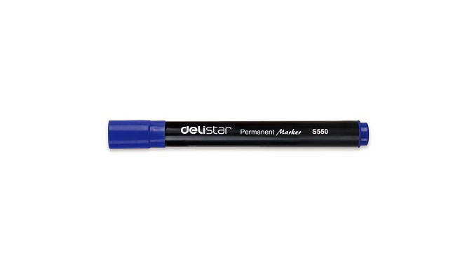 Delistar Permanent Marker 12/pack, Blue