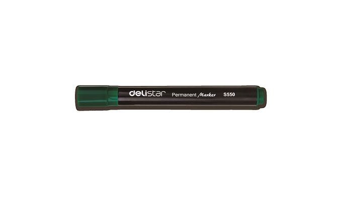 Delistar Permanent Marker 12/pack Green