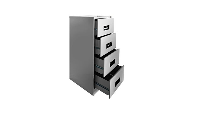 Hadid 4 Drawers Filing Cabinet - Grey Color