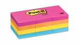 3M Post-it Notes 653AN, 1.5 x 2 inches, 12pads/pack, Neon Color