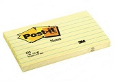 3M Post-it Notes 635, 3 x 5 inches, Linded Canary Yellow