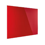 Magnetoplan glass 2 Write Magnetic Coloured Glass Board, 80cm x 60cm Red