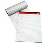 Sinarline Legal Pad A4, 50 Sheets, Line Ruled, White