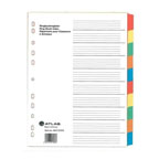 Atlas Divider Plastic Colored with Numbers , 1-10