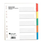 Atlas Divider Plastic Colored, 5 Tabs