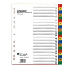 Atlas Divider Plastic Colored with Numbers , 1-20