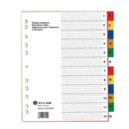 Atlas Divider Plastic Colored with Numbers , 1-12