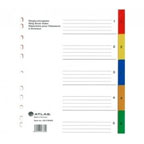 Atlas Divider Plastic Colored with Numbers , 1-5