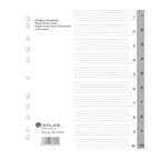 Atlas Divider Plastic Grey , 1-10