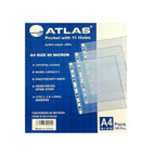 Atlas Clear Pocket A4, 11 Holes, 80 Microns, 100/Box