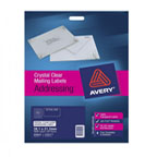 Avery L7551 Clear Address Labels, 25sheets/pack