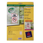 Avery Printable Durable Signs, 190 x 275 mm, 1label/sheet, 10lables/pack