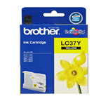 Brother LC37 Yellow Ink Cartridge - LC37Y