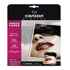 Canson Glossy Photo Paper A3, 270gsm 20/pack
