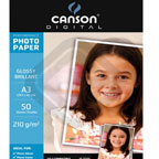 Canson Glossy Photo Paper A3, 210gsm 50/pack