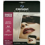 Canson Glossy Photo Paper A4, 240gsm 20/pack