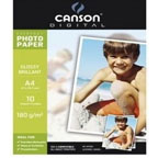 Canson Glossy Photo Paper A4, 180gsm 10/pack