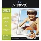 Canson Glossy Photo Paper A4, 180gsm 100/pack