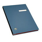 ELBA 41403 Signature Book, 20 Compartments, PVC Cover, Blue