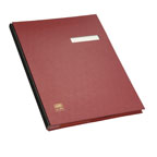 ELBA 41403 Signature Book, 20 Compartments, PVC Cover, Red