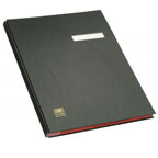 Elba 41403 Signature Book, 20 Compartments, PVC Cover, Black