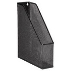 Metal Mesh Magazine Holder Black
