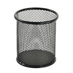 Pen Holder Metal Mesh Black