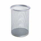 Pen Holder Metal Mesh Silver