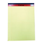 Sinarline Legal Pad A4, 50 Sheets, Line Ruled, Yellow