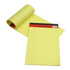 Sinarline Legal Pad A5, 50 Sheets, Line Ruled, Yellow