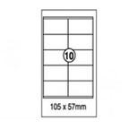 Xellent 10 Label/sheets, 105x57mm 100sheets/pack