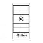 Xellent 12 Label/sheets, 105 x 49mm 100sheets/pack