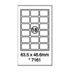 Xellent 18 Label/sheets, 63.5 x 46.6mm Round Corners100sheets/pack