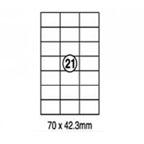 Xellent 21 Label/sheets, 70 x 42.3mm 100sheets/pack