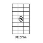 Xellent 24 Label/sheets, 70 x 37mm 100sheets/pack