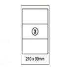 Xellent 3 Label/sheets, 210x99mm 100sheets/pack