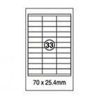 Xellent 33 Label/sheets, 70  x 25.4mm 100sheets/pack