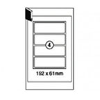 Xellent 4 Box File Labels 100sheets, 192x61mm