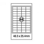 Xellent 44 Label/sheets, 48 x 25.4mm 100sheets/pack