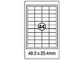 Xellent 44 Label/sheets, 48.3 x 25.4mm Round Corner 100sheets/pack