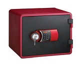 Eagle YESM-020K Fire Resistant Safe, Digital & Key Lock, Red