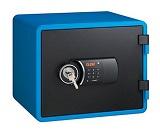Eagle YES-M020K Fire Resistant Safe, Digital & Key Lock, Blue