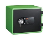 Eagle YESM-020K Fire Resistant Safe, Digital & Key Lock, Green